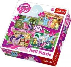 Puzzle 4w1 Trefl T-34153 Wakacje Kucyków
