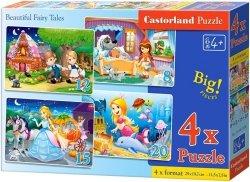 Puzzle 8,12,15,20 Castorland B-041008 Najpiękniejsze Bajki