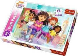 Puzzle 24 Maxi Trefl 14242 Dora i Przyjaciele