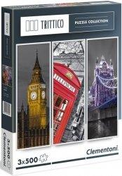 Puzzle 3x500 Clementoni 39306 Londyn