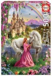 Puzzle 500 Educa 17985 Wróżka i Jednorożec