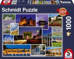 Puzzle 1000 Schmidt 58340 Francja - Kolaż