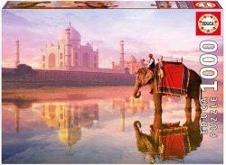 Puzzle 1000 Educa 16756 Słoń - Elephant at Taj Mahal