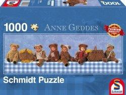 Puzzle 1000 Schmidt  59360 Anne Geddes - Niedźwiadki na Pikniku (Panorama)