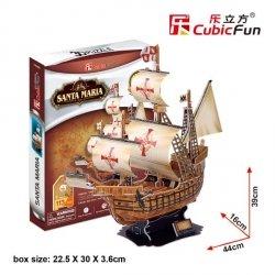 Puzzle 3D CubicFun 113 Żaglowiec - Santa Maria  - T4008h