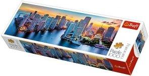 Puzzle 1000 Trefl 29027 Panorama - Miami o Zmroku