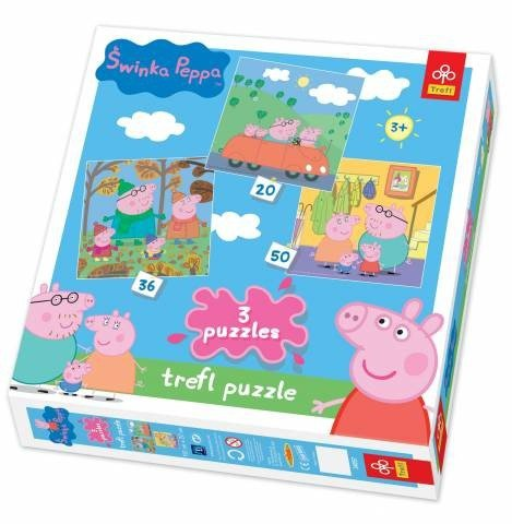Puzzle 3w1 Trefl T-34057 Świnka Peppa