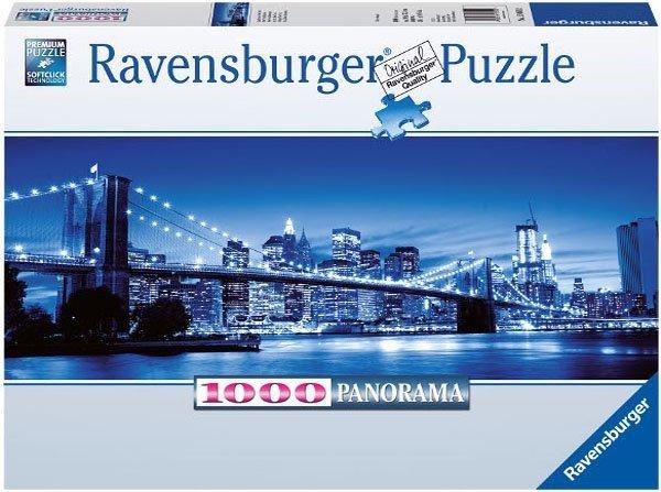 Puzzle 1000 Ravensburger 150502 New York Nocą - Panorama