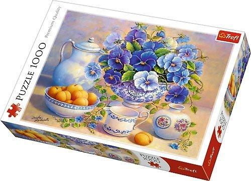 Puzzle 1000 Trefl 10466 Kwiaty - Niebieski Bukiet