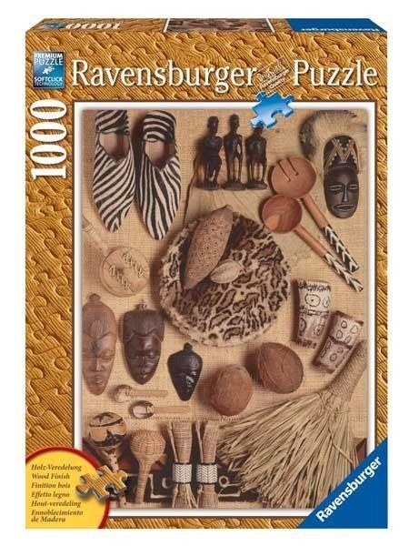 Puzzle 1000 Ravensburger 190010 Afrykańskie Artefakty