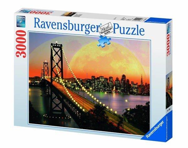 Puzzle 3000 Ravensburger 170395 San Francisco Nocą