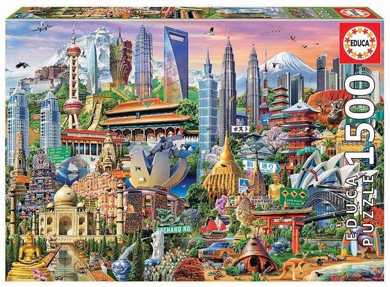Puzzle 1500 Educa 17979 Punkty Orientacyjne Azja