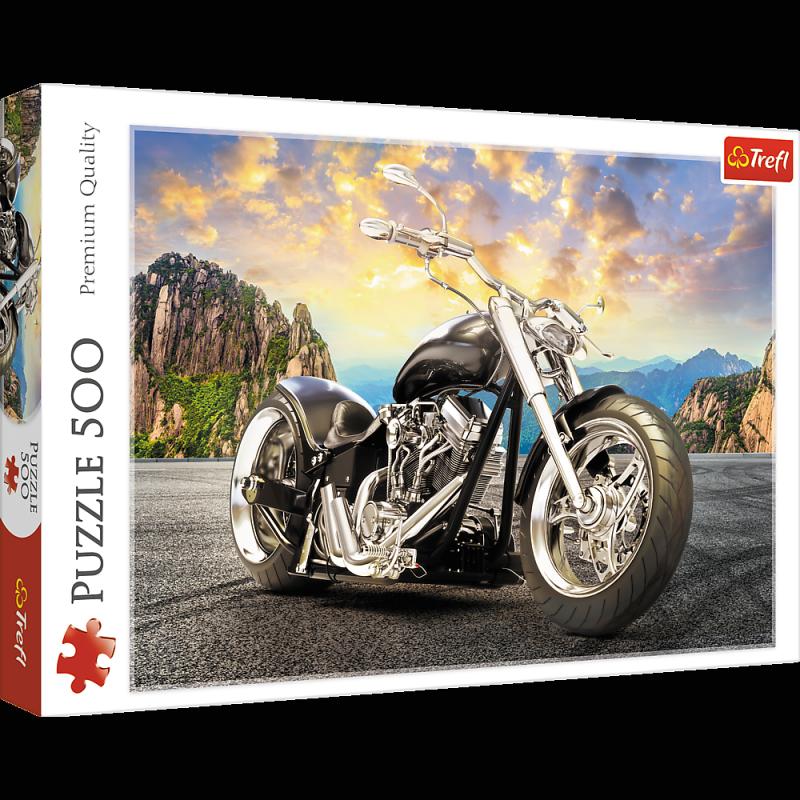 Puzzle 500 Trefl 37384 Czarny Motocykl