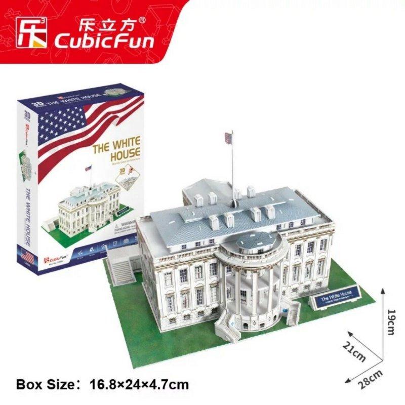 Puzzle 3D CubicFun 64 Biały Dom - C060h
