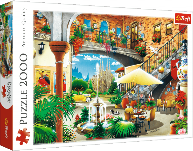 Puzzle 2000 Trefl 27105 Widok na Barcelonę