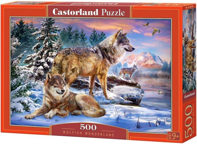 Puzzle 500 Castorland B-53049 Wilki