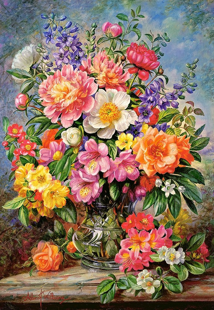Puzzle 1000 Castorland C-103904 Kwiaty w Wazonie