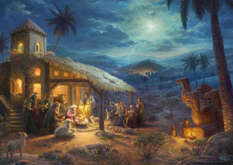 Puzzle 1000 Schmidt 59676 Thomas Kinkade - Narodziny Jezusa