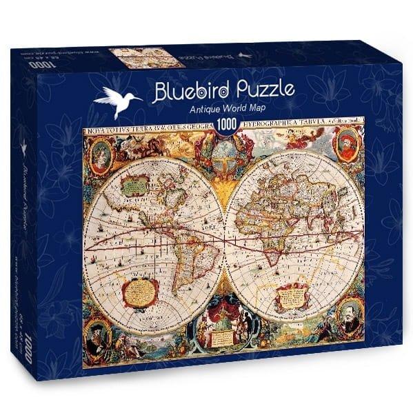 Puzzle 1000 Bluebird 70246 Antyczna Mapa Świata