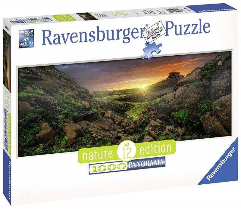 Puzzle 1000 Ravensburger 150946 Słońce nad Islandią - Panorama