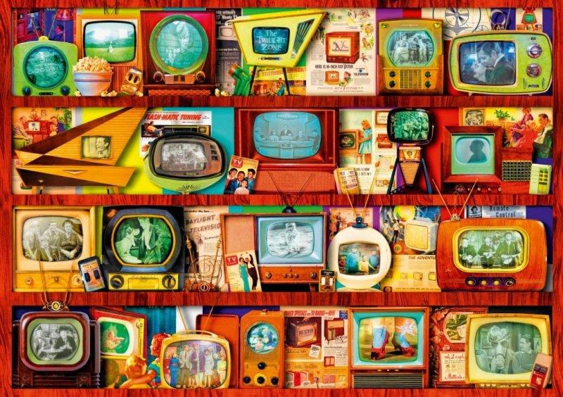 Puzzle 1000 Bluebird 70330 Aimee Stewart - Półka Telewizyjna - Złoty Wiek