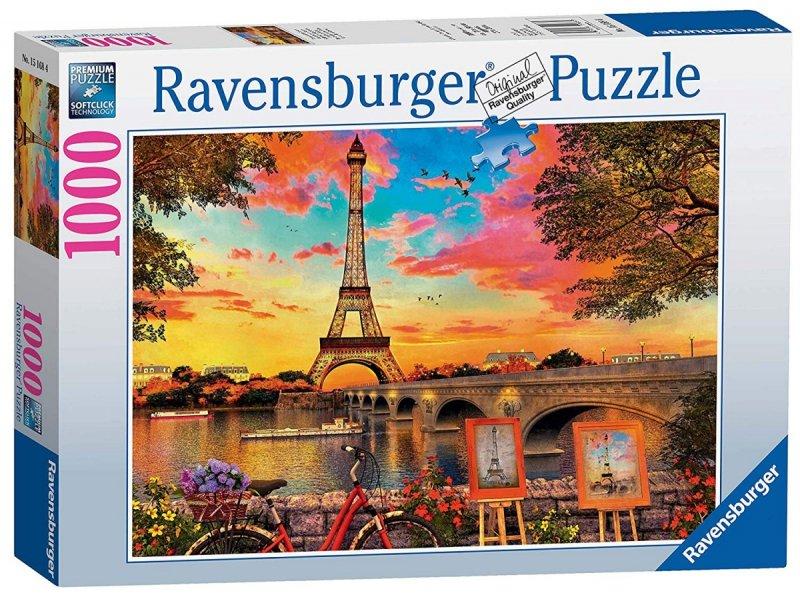 Puzzle 1000 Ravensburger 151684 Wieża Eiffla - Nabrzeże Sekwany