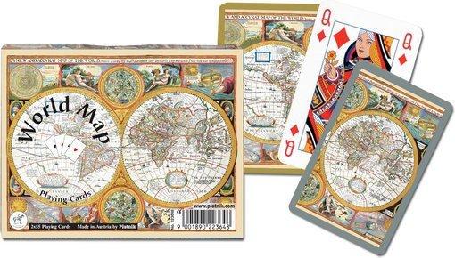 Karty do Gry Piatnik 2 Talie 2236 Mapa Świata