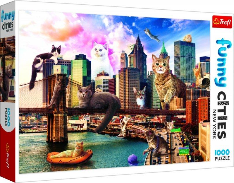 Puzzle 1000 Trefl 10595 Koty w Nowym Jorku