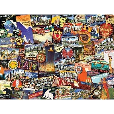 Puzzle 1000 Ravensburger 192120 USA - Kolaż