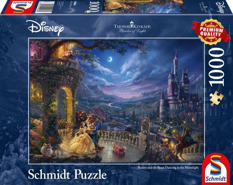Puzzle 1000 Schmidt 59484 Thomas Kinkade - Piękna i Bestia - Disney