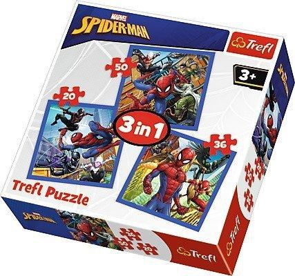 Puzzle 3w1 Trefl T-34841 SpiderMan - Pajęcza Siła