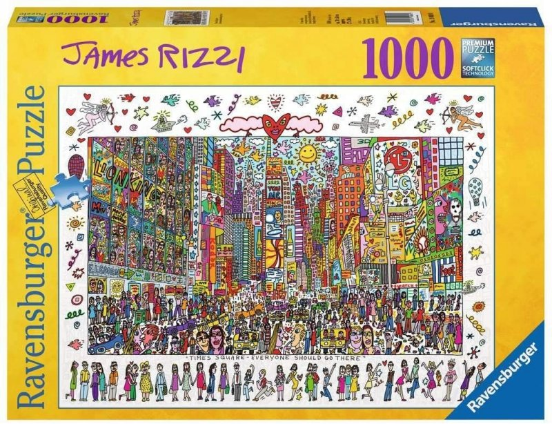 Puzzle 1000 Ravensburger 190690 James Rizzi - Times Square