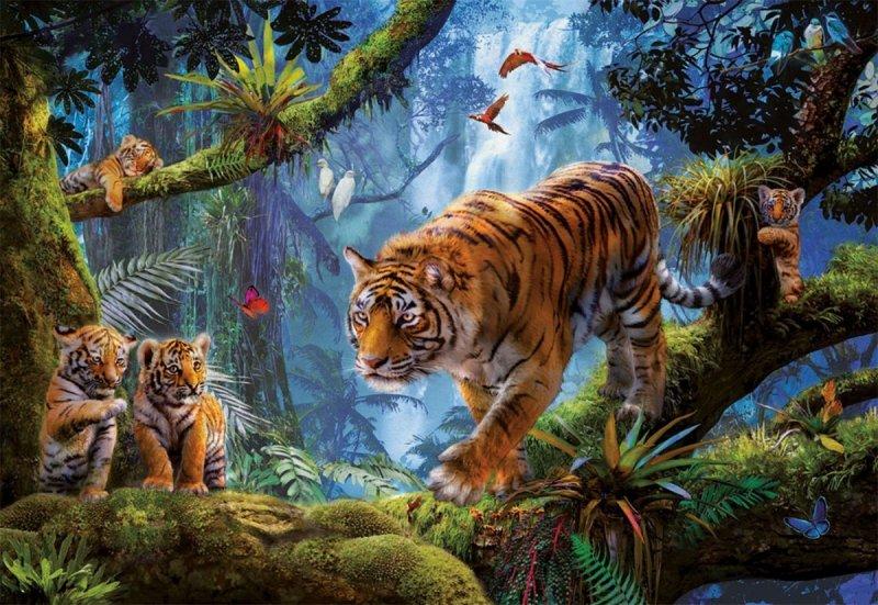 Puzzle 1000 Educa 17662 Tygrys na Drzewie