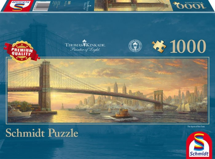 Puzzle 1000 Schmidt  59476 Thomas Kinkade - Most - Brooklyn Bridge - Panorama