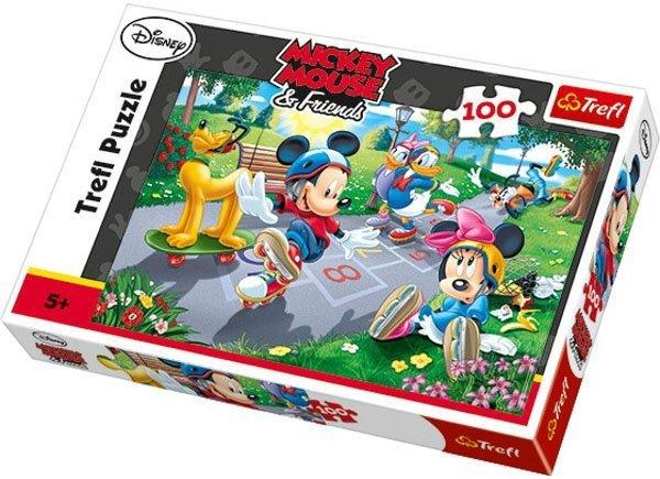 Puzzle 100 Trefl T-16249 Miki na Rolkach