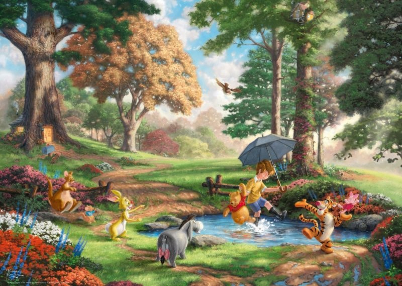Puzzle 1000 Schmidt 59689 Thomas Kinkade - Kubuś Puchatek - Disney