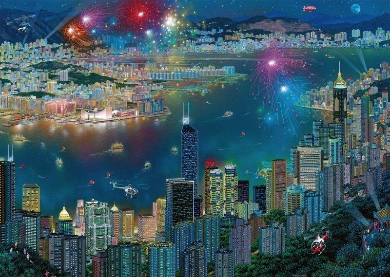 Schmidt 59650 Alexander Chen - Fajerwerki nad Hongkongiem