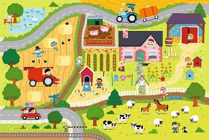 Puzzle Baby Gigantic Trefl T-90753 Wieś