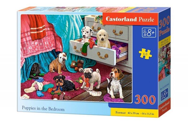 Puzzle 300 Castorland B-030392 Szczenięta w Sypialni