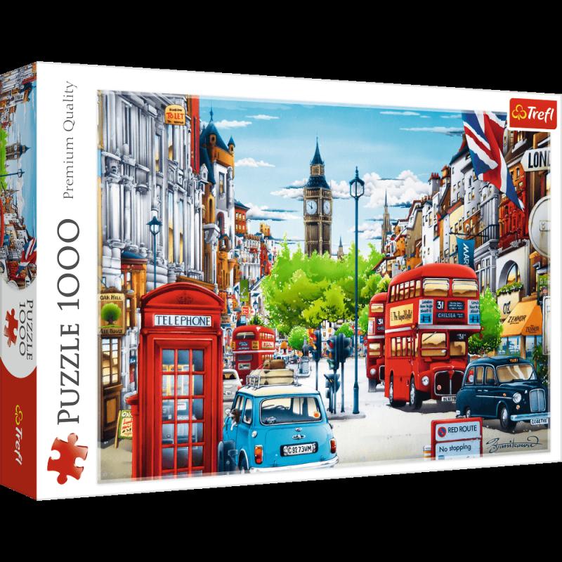 Puzzle 1000 Trefl 10557 Ulica Londynu