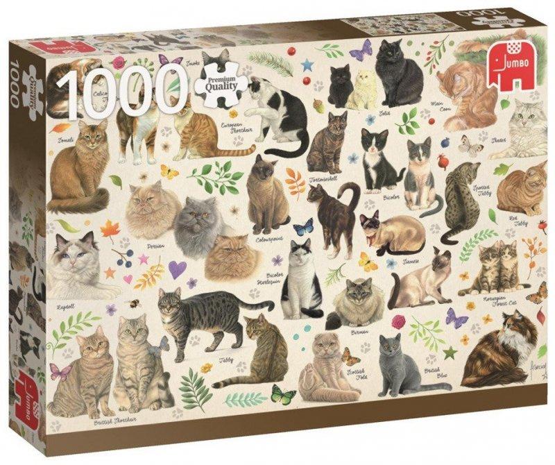 Puzzle 1000 Jumbo 18595 PC - Koty