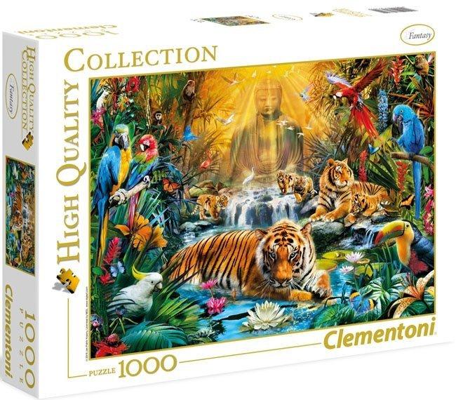 Puzzle 1000 Clementoni 39380 Mistyczne Tygrysy