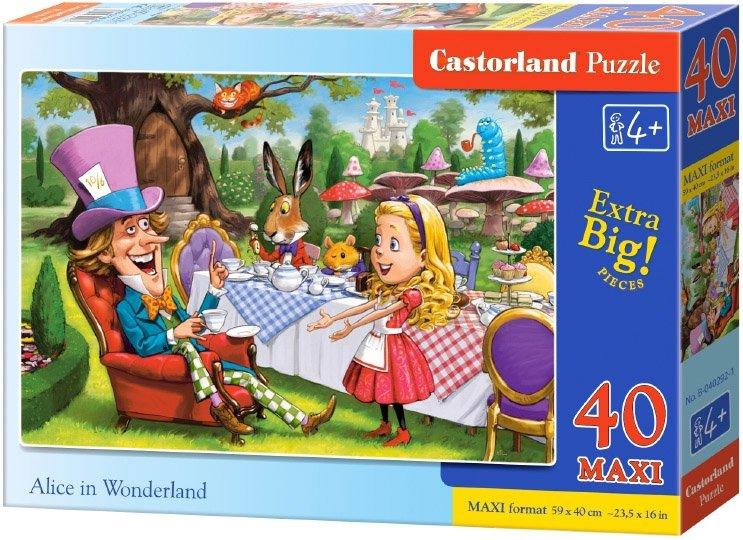 Puzzle 40 Maxi Castorland B-040292 Alicja w Krainie Czarów