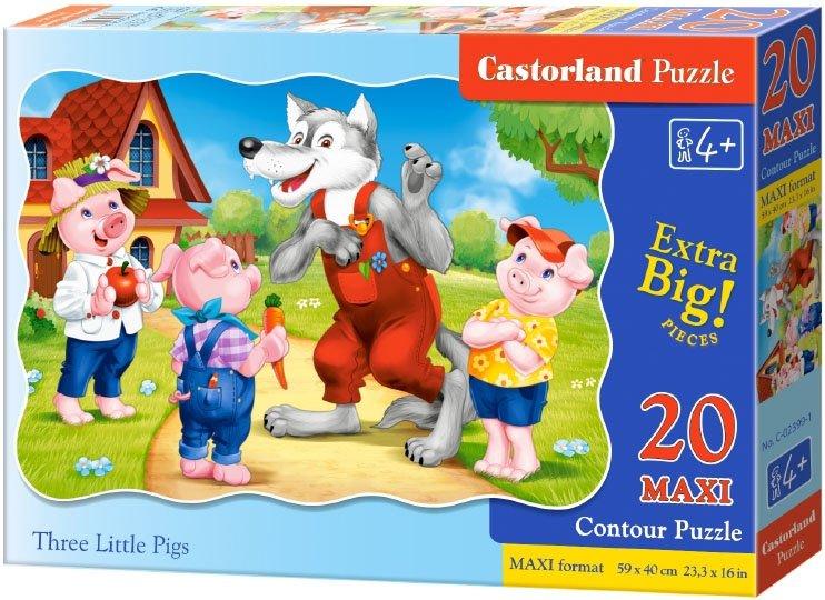 Puzzle 20 Maxi Castorland C-02399 Trzy Świnki