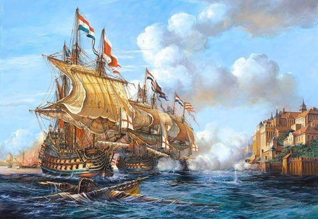 Puzzle 2000 Castorland C-200245 Copy of - Battle of Porto Bello - 1739