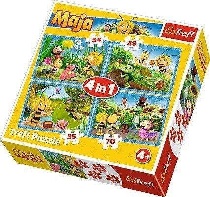 Puzzle 4w1 Trefl T-34320 Pszczółka Maja
