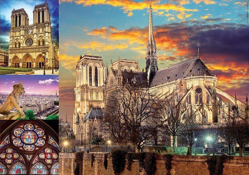 Puzzle 1000 Educa 18456 Notre Dame - Kolaż
