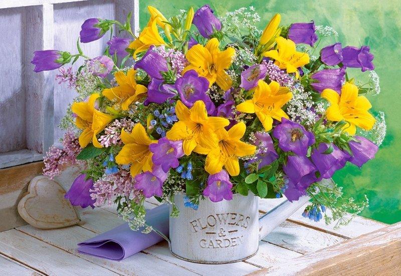 Puzzle 1000 Castorland C-104642 Kwiaty - Lilie i Dzwonki