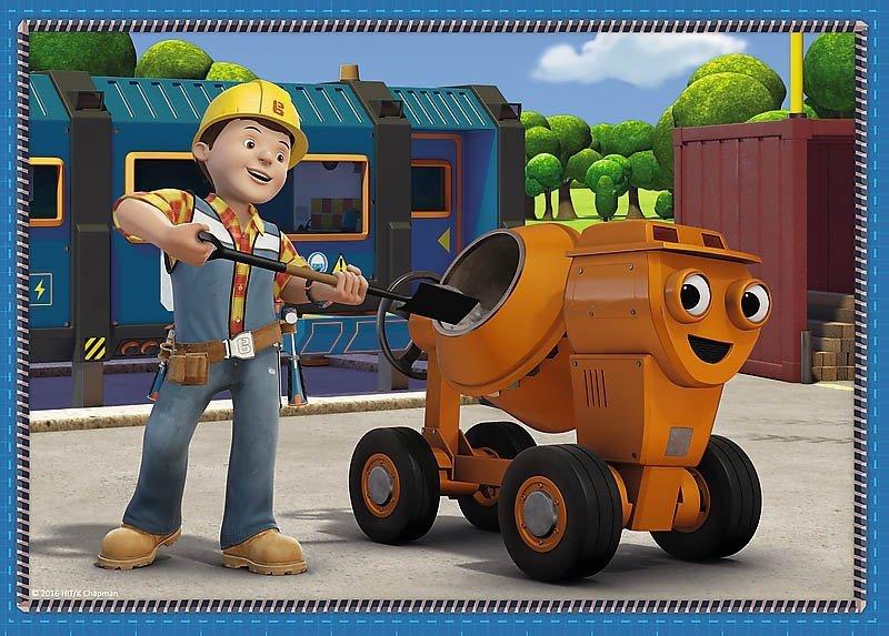 Puzzle 4w1 Trefl T-34270 Bob Budowniczy - Pracowity Dzień