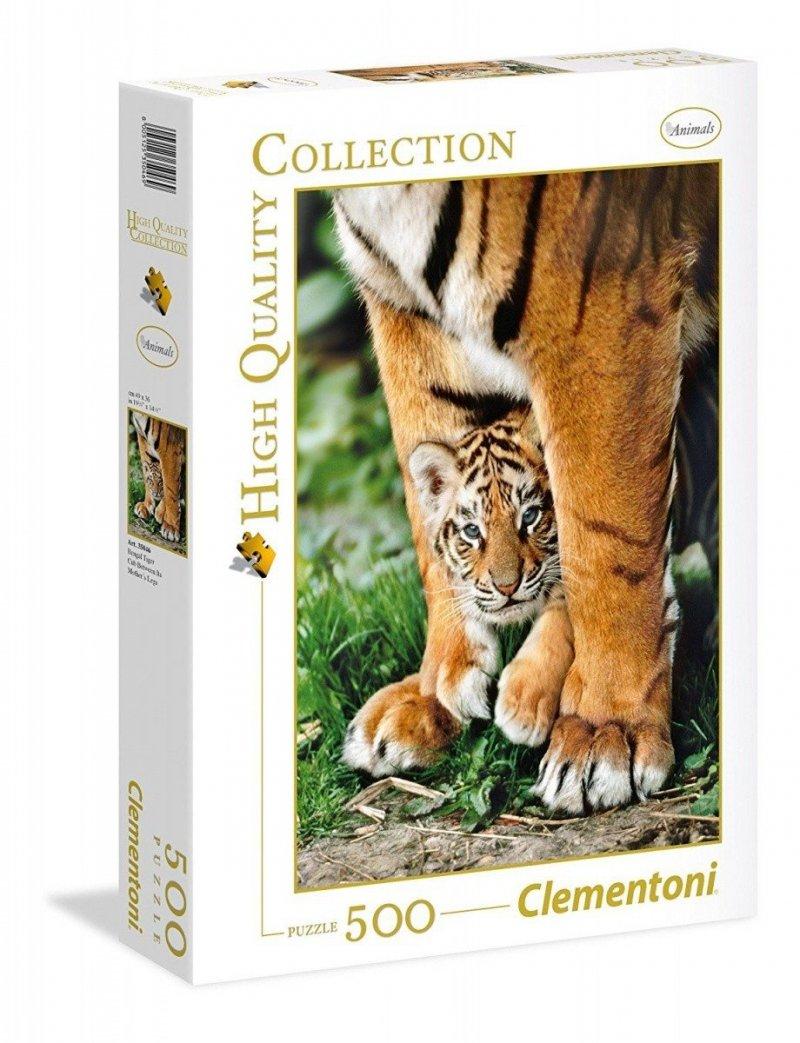 Puzzle 500 Clementoni 35046 Tygrysek Bengalski z Mamą